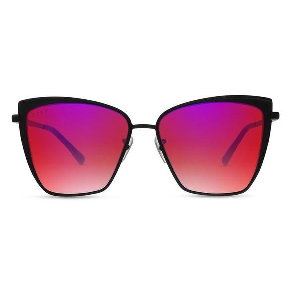 ef2ccdca9b Diff Eyewear Accessories - NWOT Diff  Becky  Black + Fire Mirror Sunglasses